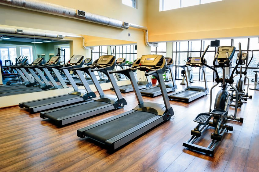 Gym showing treadmills and other exercise equipment.